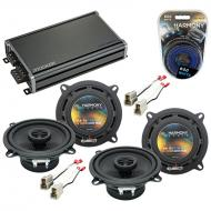 Compatible with Nissan Maxima 1987-1988 Factory Speaker Replacement Harmony (2) R5 & CXA360.4