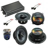 Compatible with Chevy Tahoe 2007-2014 Factory Speakers Replacement Harmony C65 C5 & CXA360.4 Amp