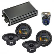 Compatible with Audi TT 2000-2015 Factory Speaker Replacement Harmony (2) R65 & CXA360.4 Amp