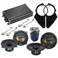 Compatible with Toyota T100 1993-1998 Factory Speaker Replacement Harmony (2) R65 & CXA360.4 Amp