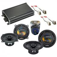 Compatible with Kia Sportage 1995-2003 OEM Speaker Replacement Harmony R5 R65 & CXA360.4 Amp