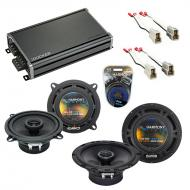 Compatible with Audi 5000 Series 1986-1988 OEM Speaker Replacement Harmony R5 R65 & CXA360.4 Amp