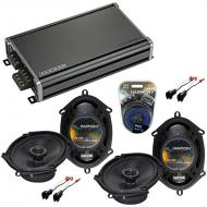 Compatible with Ford Crown Victoria 98-11 OEM Speaker Replacement Harmony R68 R69 & CXA360.4 Amp