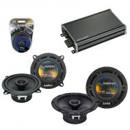 Compatible with Mercedes C-Class 94-04 OEM Speaker Replacement Harmony R65 R5 & CXA360.4 Amp