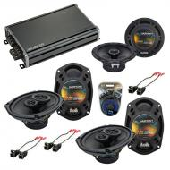 Compatible with Buick Rendevous 02-07 OEM Speaker Replacement Harmony (2) R69 R65 & CXA360.4 Amp