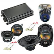 Compatible with Oldsmobile Ninety-Eight 1988-1993 OEM Speaker Replacement Harmony & CXA360.4 Amp