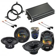Compatible with Chrysler Cirrus 1995-2000 OEM Speaker Replacement Harmony R65 R69 & CXA360.4 Amp