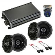 Compatible with GMC Canyon 2004-2012 Factory Speaker Replacement Kicker (2) DSC65 & CXA360.4