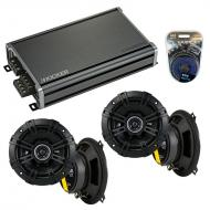 Compatible with Kia Sportage 2005-2010 Factory Speaker Replacement Kicker (2) DSC5 & CXA360.4