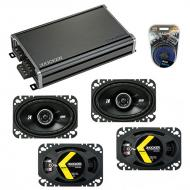 Compatible with Porsche 944 1983-1993 Factory Speaker Replacement Kicker (2) DSC46 & CXA360.4