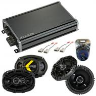 Compatible with Ford F-Series Truck 1987-1991 Speaker Replacement Kicker DS Pack & CXA360.4 Amp