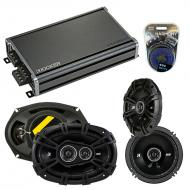 Compatible with Hyundai Entourage 2007-2008 Speaker Replacement Kicker DS Series & CXA360.4 Amp