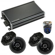 Compatible with Chrysler Pacifica 2004-2008 Speaker Replacement Kicker (2) DSC65 & CXA360.4 Amp