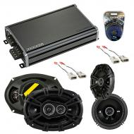 Compatible with Mercury Grand Marquis 92-94 Speaker Replacement Kicker DS Series & CXA360.4 Amp