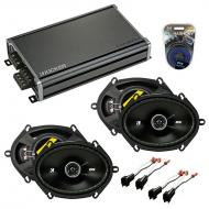 Compatible with Mercury Sable 2008-2009 Speaker Replacement Kicker (2) DSC68 & CXA360.4 Amp