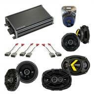Compatible with Acura RL 1999-2004 Factory Speaker Replacement Kicker DS Series & CXA360.4