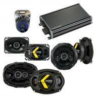 Compatible with Cadillac DeVille 1985-1987 Speaker Replacement Kicker DS Series & CXA360.4 Amp