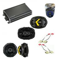 Compatible with Cadillac Fleetwood 93-96 Speaker Replacement Kicker DSC5 DSC693 & CXA360.4 Amp