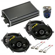 Compatible with Ford Thunderbird 1989-1997 Speaker Replacement Kicker (2) DSC68 & CXA360.4 Amp