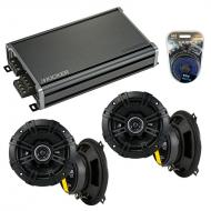 Compatible with Jeep Cherokee 1984-1987 Speaker Replacement Kicker (2) DSC5 & CXA360.4 Amp