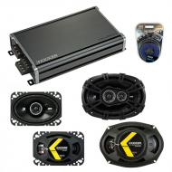 Compatible with Oldsmobile Alero 1999-2000 Speaker Replacement Kicker DS Series & CXA360.4 Amp