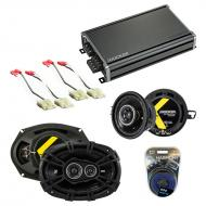 Compatible with Oldsmobile Ninety-Eight 1988-1993 Speaker Replacement Kicker DS & CXA360.4 Amp