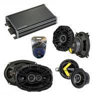 Compatible with Dodge Intrepid 1993-1997 Factory Speaker Replacement Kicker DS & CXA360.4 Amp