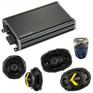 Compatible with Dodge Challenger 2008-2014 Speaker Replacement Kicker DSC693 DSC5 & CXA360.4 Amp