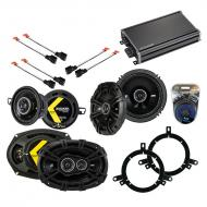 Compatible with Chrysler Concorde 1998-2001 Speaker Replacement Kicker DS Package & CXA360.4 Amp