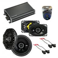 Compatible with GMC Savana Van 1996-2000 Speaker Replacement Kicker DS Series & CXA360.4 Amp