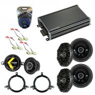 Compatible with Jeep Grand Cherokee 96-98 Speaker Replacement Kicker DS Series & CXA360.4 Amp
