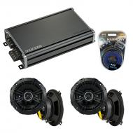 Compatible with Land Rover Discovery 94-99 Speaker Replacement Kicker (2) DSC5 & CXA360.4 Amp