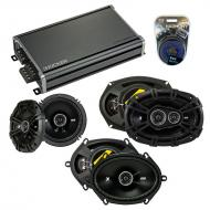 Compatible with Lincoln Continental 95-97 Speaker Replacement Kicker DS Series & CXA360.4 Amp