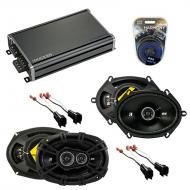 Compatible with Lincoln Town Car 03-11 Speaker Replacement Kicker DSC68 DSC693 & CXA360.4 Amp