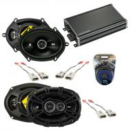 Compatible with Lincoln Town Car 90-02 Speaker Replacement Kicker DSC68 DSC693 & CXA360.4 Amp