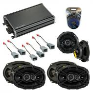 Compatible with Plymouth Voyager 1996-2000 Speaker Replacement Kicker DSC5 DSC693 & CXA360.4 Amp