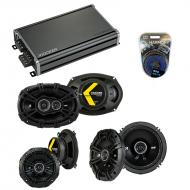 Compatible with Pontiac Bonneville 2000-2005 Speaker Replacement Kicker DS Series & CXA360.4 Amp