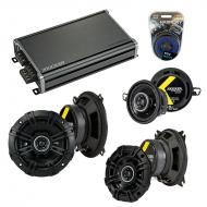 Compatible with BMW 3 Series 1999-2001 Factory Speaker Replacement Kicker DS & CXA360.4 Amp