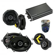Compatible with Dodge Aries 1981-1983 Factory Speaker Replacement Kicker DS & CXA360.4 Amp