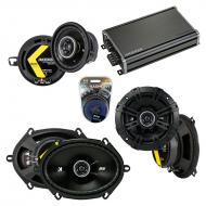 Compatible with Dodge Aries 1984-1989 Factory Speaker Replacement Kicker DS & CXA360.4 Amp