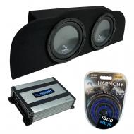 """Compatible with 2003-2015 Infiniti G35 Coupe Harmony R104 Subwoofer Dual 10"""" Sub Box & H..."""