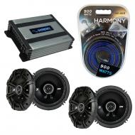 Compatible with BMW X5 2000-2013 Factory Speaker Replacement Kicker (2)DSC65 & Harmony HA-A40...