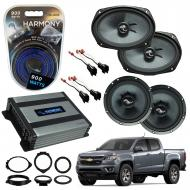 Compatible with Chevrolet Colorado 2015-2018 Premium Speaker Replacement Package C65 C69 Harmony ...