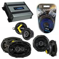 Compatible with Chrysler Concorde 1993-1997 Speaker Replacement Kicker DS Package & Harmony H...
