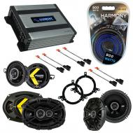 Compatible with Chrysler Concorde 1998-2001 Speaker Replacement Kicker DS Package & Harmony H...