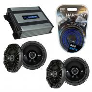 Compatible with Chrysler Crossfire 2004-2006 Speaker Replacement Kicker (2) DSC65 & Harmony H...