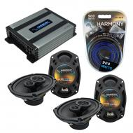 Compatible with Dodge Caliber 2007-2012 Factory Speaker Replacement Harmony (2) R69 & Harmony...
