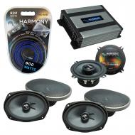 Compatible with Dodge Caravan 2002-2007 Speakers Replacement Harmony (2)C69 C5 & Harmony HA-A...