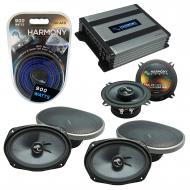 Compatible with Dodge Grand Caravan 08-17 Speakers Replacement Harmony (2) C69 & Harmony HA-A...