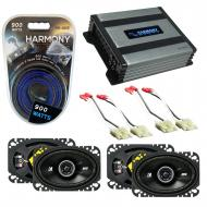 Compatible with GMC Sierra 1988-1994 Factory Speaker Replacement Kicker (2) DSC46 & Harmony H...